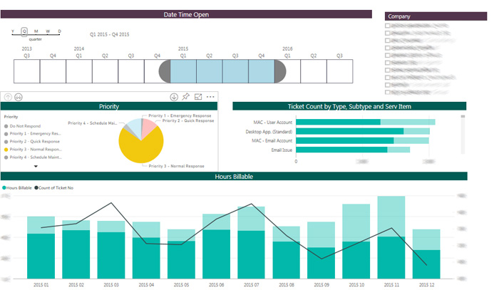 Microsoft PowerBI Business Intelligence Report
